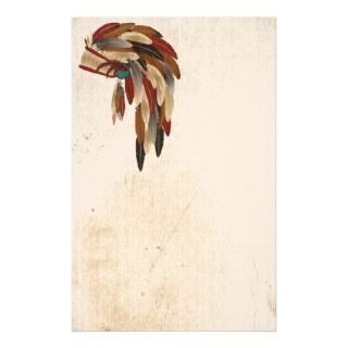 War Bonnet Native American Stationery