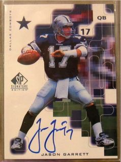1999 SP Signature Autographs JG Jason Garrett