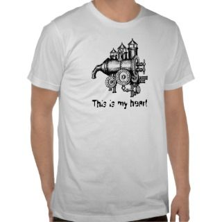 Engine, This is my heart funny graphic art t shirt