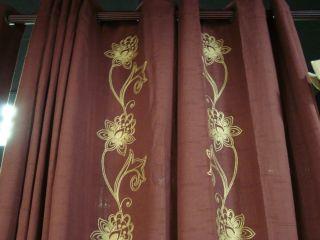 Linden Street Grommet Chocolate Floral Curtains Drapes Pair