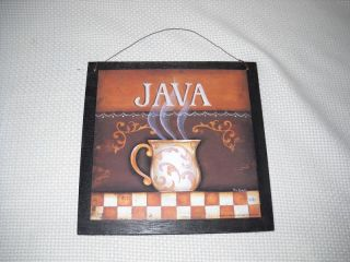 JAVA coffee MUG sign WOODEN cafe SHOP SIGNS wall art decor Kitchen