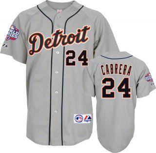 Miguel Cabrera 2012 Detroit Tigers World Series Grey Road Jersey Mens