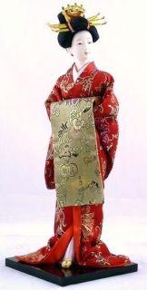 Collectible 16 Japanese Geisha Handmade Porcelain Doll