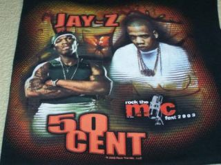 Jay Z 50 Cent Snoop Dogg More 2003 Concert T Shirt Med