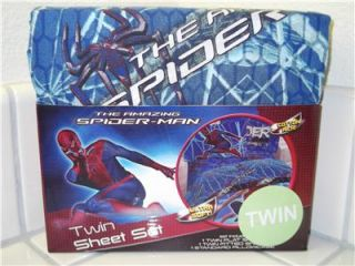 Marvel The Amazing Spider Man Twin Sheet Set BNIP Fitted Flat Pillow