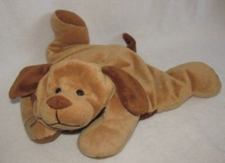 16 Jay at Play Mushabelly Microbead Small Brown Puppy Dog Plush Toy