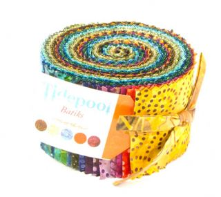 Moda Tidepool Batiks Jelly Roll 2 5 Fabric Quilting Strips 4301JR