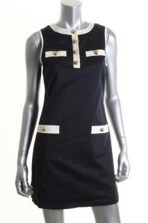 Julie Brown New Bonnie Navy Contrast Trim Sleeveless Casual Wear to