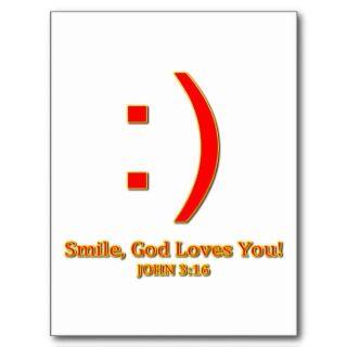 Usted del amor cristiano de dios tarjeta postal