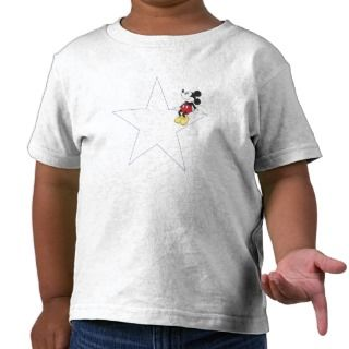 Mickey & Friends Mickey sitting on a star Shirt