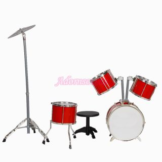 New 11 Pcs Jazz Drum Set Childrens Toys Red