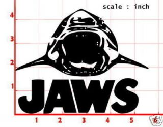 Jaws Movie Decal Sticker Car Window Door Laptop