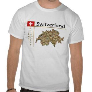 Mapa de Suiza + Bandera + Camisea del íulo de