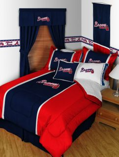 Atlanta Braves Twin Full Queen Comforter Sets MVP