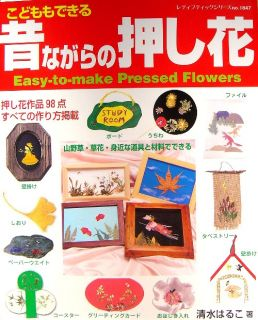 Easy to Make Pressed Flowers Japanese Craft Book A40