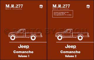 1986 1987 1988 Jeep COMANCHE Truck Shop Manual Set