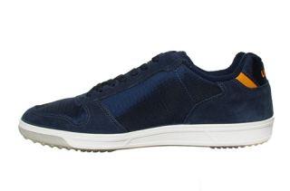 Lacoste Mens Shoes Jenson EO SPM Dark Blue Orange 7 24SPM1264202 Sz 7