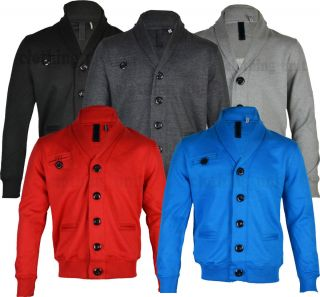 Mens Hoody Top Jenson Designer Style Zip Up Buttoned Jacket Fashion