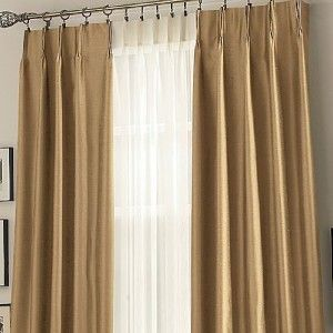 New  Supreme Pinch Pleat Drapes Espresso Brown 100x95L Energy