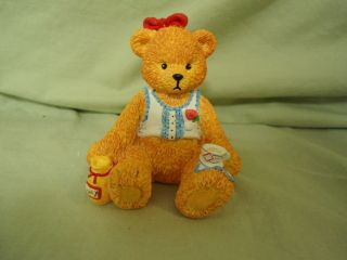 Collectibles Bear Figurine w Honey Jar and Tea Cup Cute 1996