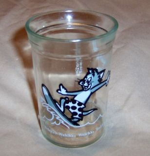 Welchs Jelly Tom Jerry Swanky Swig Juice Glass 1990