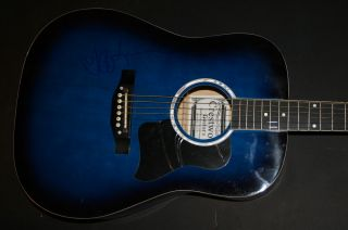 Jeff Lynne ELO Signed Autographed Blue Guitar