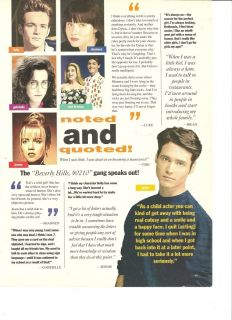 Hills 90210 Full Page clipping Jason Briestly Jennie Garth Etc