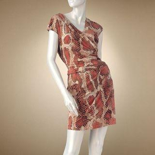 Jennifer Lopez Snakeskin Faux Wrap Dress