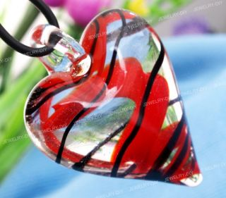 Lampwork Glass Heart Love Pendant Necklace Chic New