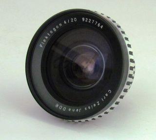 Flektogon 4 20mm Zebra wide angle lens by Carl Zeiss Jena for Exakta