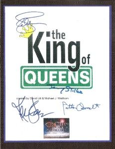 Queens Script Signed rpt Kevin James Leah Remini Jerry Stiller