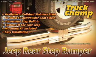 Rear Step Bumper Stainless Steel 1997 2006 Jeep Wrangler TJ