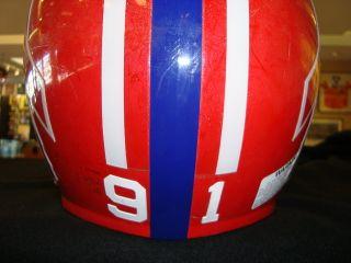 Buffalo Bills Jeff Wright 91 NT Game Used NFL Helmet