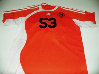 Adidas Youth Soccer Jersey Shirt Orange M Medium Poly