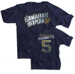 Navy Shirt Jersey 5 Notre Dame Mission TEO Destroy USC Manti