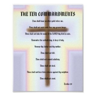 Hang this beautiful poster of the Ten Commandments on your wall