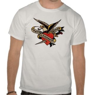 Vintage Tattoo   Death Before Dishonor Eagle T Tee Shirts