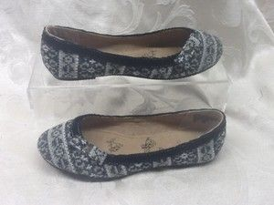 JELLYPOP Womens Dixie Black Grey Knit Flat Oxford Shoes Size 5 New