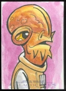 Star Wars Galactic Files Sketch by Jeremy R Scott