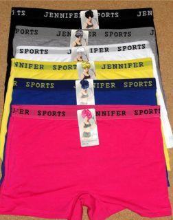 Jennifer Boy Shorts Cotton Workout Boxer Underwear 09