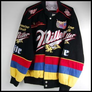 Mens Jeff Hamilton Racing Collection Miller Miller Lite NASCAR Jacket