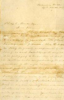 Jefferson Davis Autograph Letter Signed