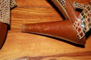 Jeffrey Campbell SJP Sarah Jessica Parker Size 7 5 Heel Python Animal