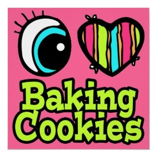 love baking (gingerbread man cookie) posters
