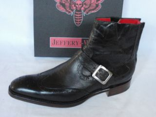 Jeffery West Lemmy Chocolate Mad Dog Leather Zip Biker Boots RRP £295