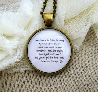 Florence and The Machine Inspired Lyrical Quote Necklace Youve got