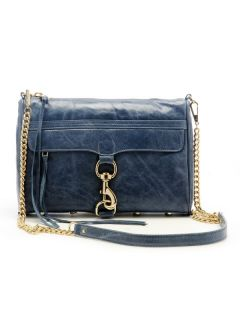 295 NWT   REBECCA MINKOFF MAC CLUTCH Royal Blue LEATHER Handbag BAG