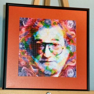 Framed Matted Blotter Art Sheet Jerry Garcia The Grateful Dead