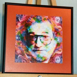 Framed Matted Blotter Art Sheet Jerry Garcia The Grateful Dead