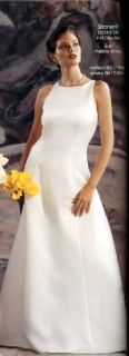 Jessica McClintock Ivory Satin Rose Bridal Gown 10